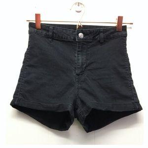 Divided | Black High-Rise Denim Shorts Soft EUC